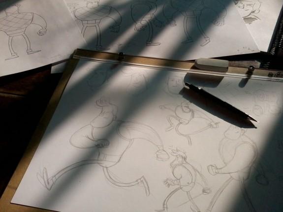 Desenhando o turnaround do guerreiro.